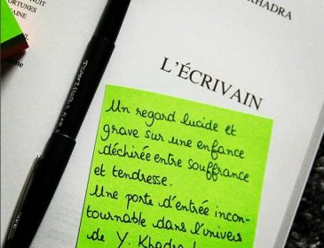 Book-it #9: L'écrivain, de Yasmina Khadra