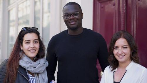 Sabrine, Adewele, Charlène (gauche à droite)