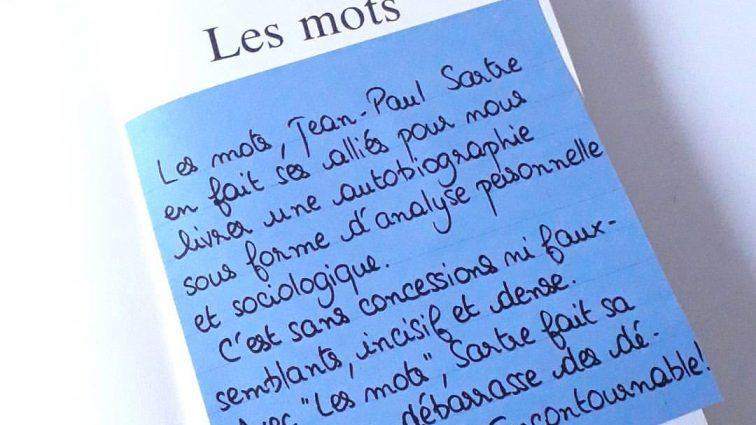 Book-it #16: «Les mots», de Jean-Paul Sartre