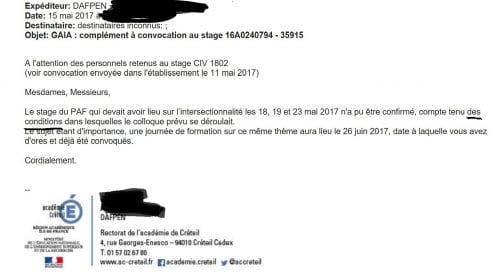 mail Rectorat