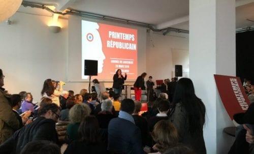 Lancement du Printemps Républicain, en avril 2016 à Paris.