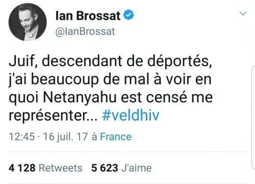 Tweet de Ian Brossat, adjoint communiste à la Mairie de Paris.