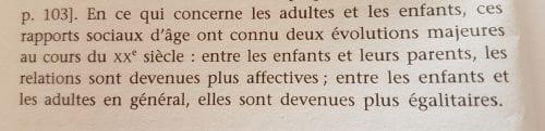Extrait, La sociologie des enfants, p 22