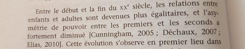 Extrait, La sociologie des enfants, p 30