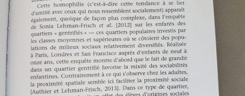 Extrait, La sociologie des enfants, p 63