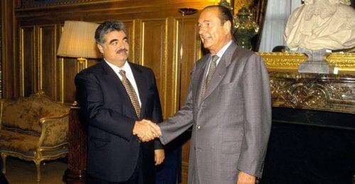 Rafic Hariri et Jacques Chirac