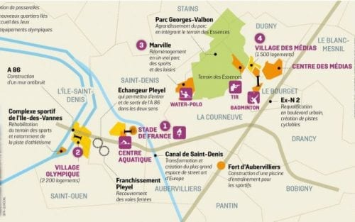 Projets prévus dans le 93 pour Paris 2024
