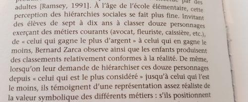 Extrait, La sociologie des enfants, p 84