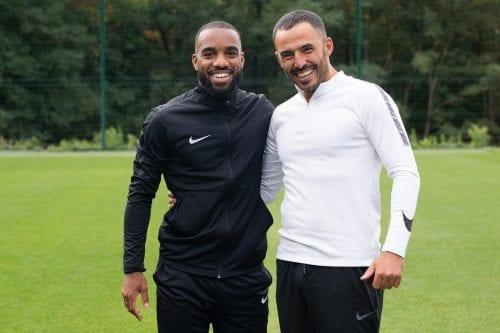 Avec Alexandre Lacazette, joueur français à Arsenal (UK)