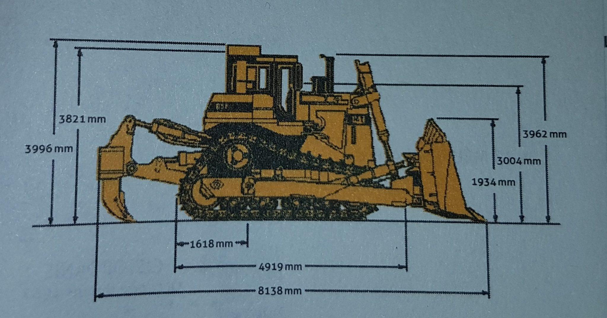 Schéma du bulldozer D9, extrait de la La Politique du Bulldozer (Collection Territoires, Éditions B2), Léopold Lambert.