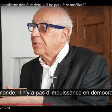 Jean Ziegler : «Le Capitalisme doit être détruit»