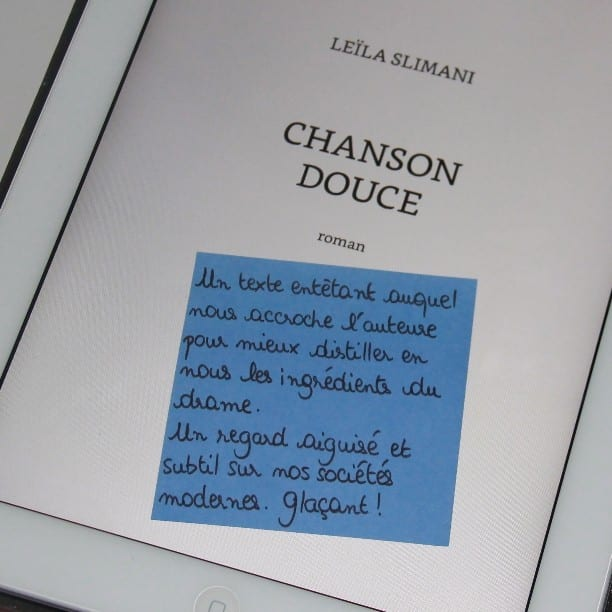 Book-it   « Chanson douce » Leïla Slimani 59468532b3dc
