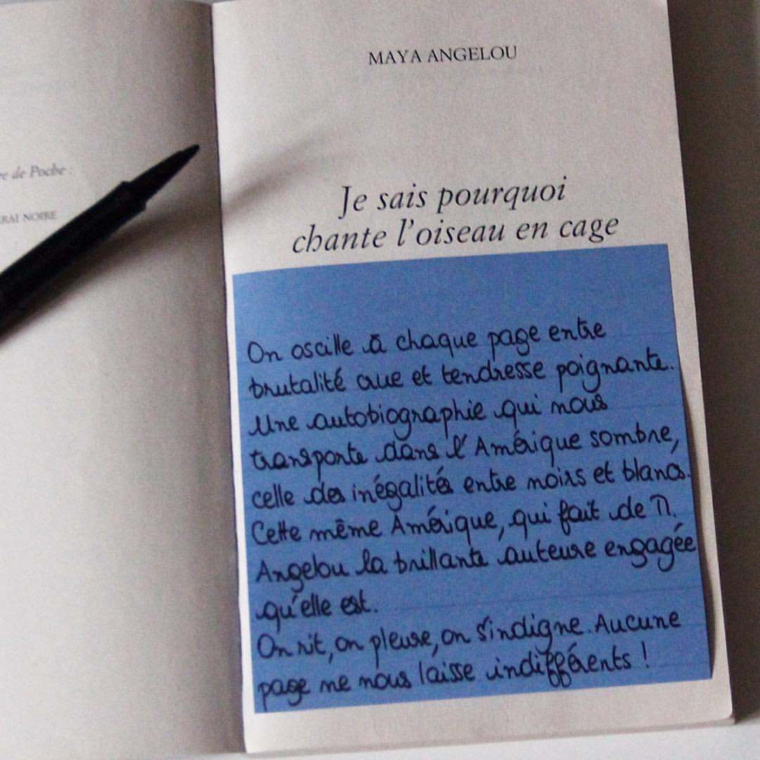 Book It Je Sais Pourquoi Loiseau Chante En Cage Maya